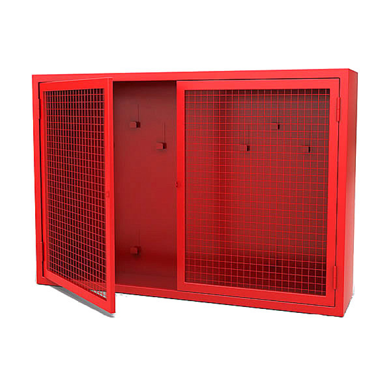 Щит пожарный, металл (1250*500h*300) с сеткой